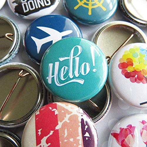 Random Pin Back Button Pins - Bulk Resale Wholesale Lot - 1