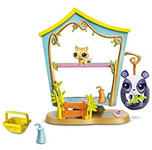 Littlest pet Shop Sweetest Cozy Clubhouse Set - With #3611 Penny Ling & #3612 Kitty