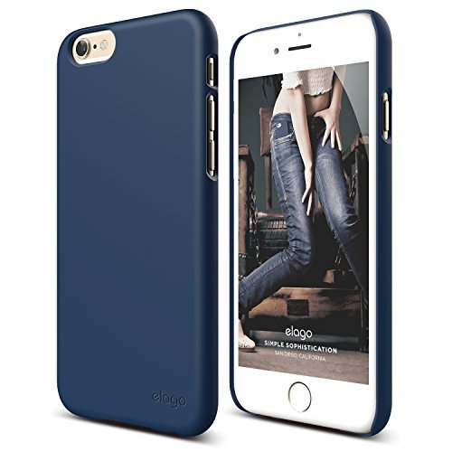 iPhone 6S Case, elago [Slim Fit 2][Soft Feel Jean Indigo] - [Light][Minimalistic][True Fit] – for iPhone 6/6S