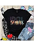 The Incredible BTS Idol Love Yourself Answer Album K-Pop T-Shirt RM Jin Suga J-Hope Jimin V Jungkook