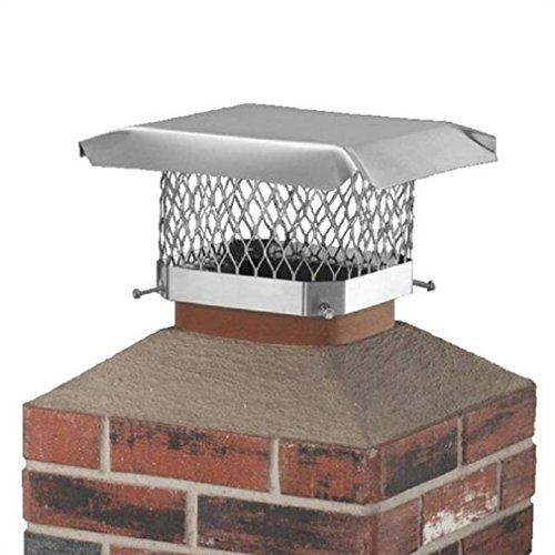 "9"" x 9"" Black Stainless Steel Single Flue Chimney Cap"