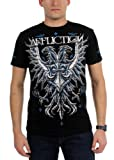 Affliction Men's Black Soul Tee Shirt Large Black