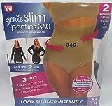 Genie Slim Panties 360 Slimming Panty Underwear Slims & Trims Women Size XL 1X 2 Pair (1 Pair Black and 1 Pair Nude)