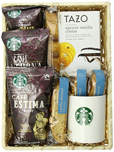 California Delicious Greet the Day with Starbucks Coffee Gift Basket