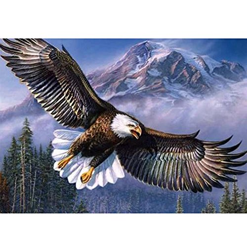Diamond Painting, Nelnissa Eagle Flying 5D Diamond Embroidery Painting DIY Cross Stitch Home Decor - Flying Eagle Embroidery