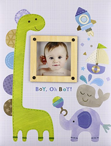 C.R. Gibson Dinosaur 'Boy oh Boy' First Five Years Memory Baby Book, 64pgs, 10'' W x 11.75'' -