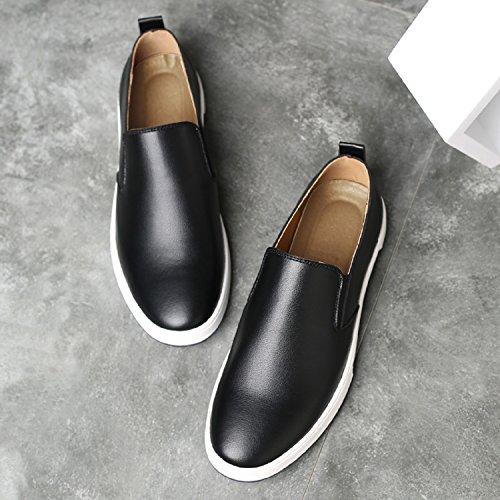 Para Casual Cuero Formales Negro Lily999 Barco Hombre Zapatos Casuales Conducción De Piel Mocasines UqU6TxtXp