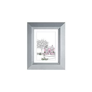 Amazoncom Edgewood Lakewood 5x7 Gray Photo Frame With Mat For 4x6