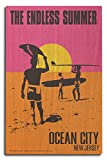 Ocean City, New Jersey - The Endless Summer - Original Movie Poster (10x15 Wood Wall Sign, Wall Decor Ready to Hang)