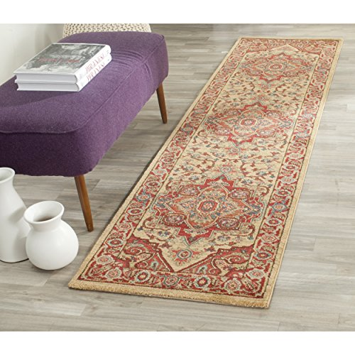 Rug Runner Mahal - Safavieh Mahal Collection MAH698A Traditional Oriental Red and Natural Runner (2'2