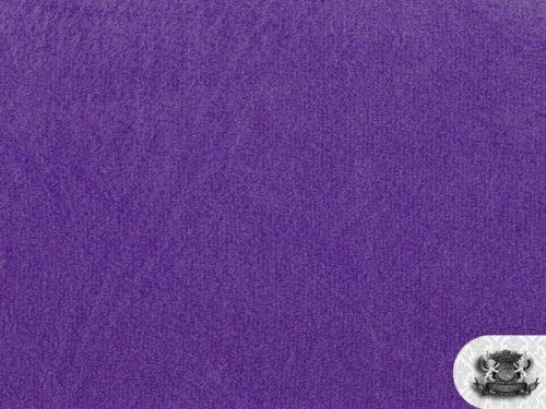 Minky Solid PURPLE Fabric By the Yard by FABRIC EMPIRE B0058EIE6U