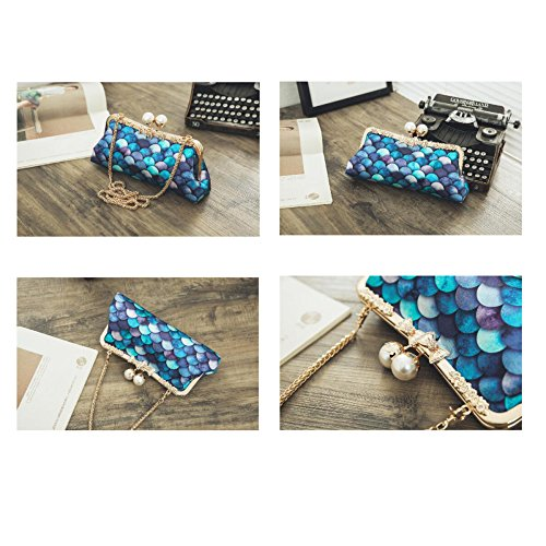 Fashion Evening Bag Party Party Bag Ladies Cheongsam Bag Wild Bag Mermaid Fashion Diagonal A Clutch RqIann1E