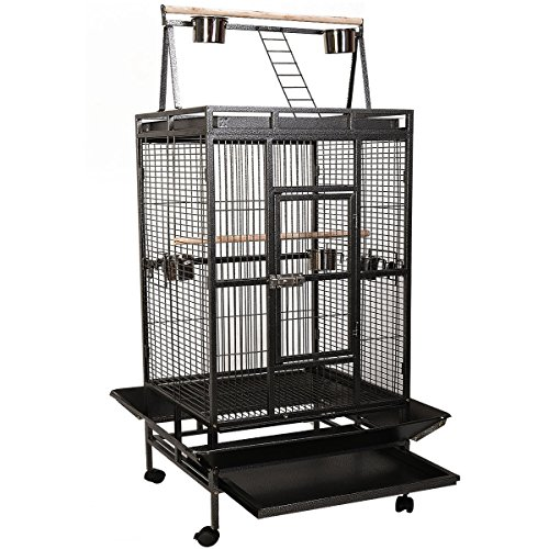Giantex Bird Cage Large Play Top Parrot Finch Cage Macaw ...