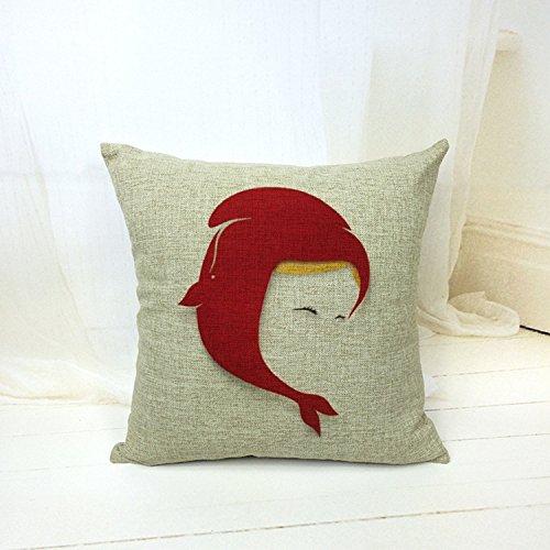 beartstore pestañas Cotton Linen manta funda de almohada ...