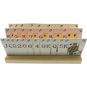 Brimtoy 2 soportes grandes de madera para cartas (50 cm) con ...