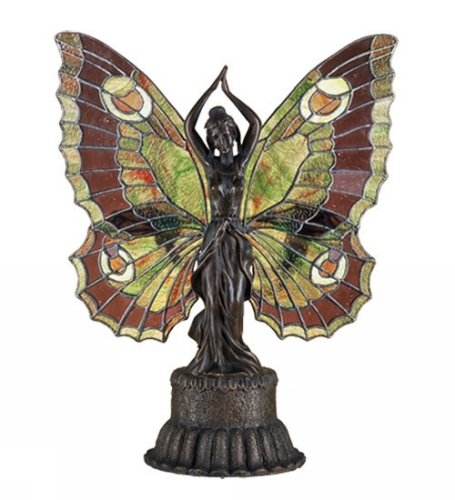 Meyda Lighting 48018 17''H Butterfly Lady Accent Lamp by Meyda