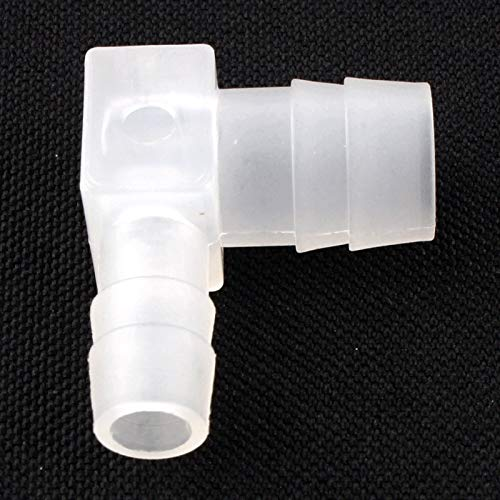 Garden Hose Adapter - 10pcs 8 to 10 mm - 4 to 10 mm 90 Degree Reducing/Equal Elbow Pipe Connectors White Garden Aquarium Adapter Water Hose Pipe Joint