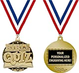 Bible Medals, 2'' Gold Bible Quiz Medal Award with Free Custom Engraving 100 Pack Prime