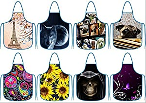 iColor Cooking Apron,Funny BBQ or Kitchen Aprons,Machine Washable,Premium Quality Bib aprons for Women and Men,ideal for Kitchen,parties,garden,camping & more | Choose Your Color