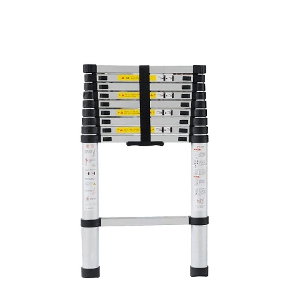 4.8m Rong Portable Telescopic Ladder Aluminum Extension Extended Trapezoidal Folding Ladder, Maximum Load 330lbs Aluminum Ladder, In Line With En131 And Ce Standards,4.8m
