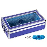 Shoe Cover Machine Dispenser Home Medical Automatic Anti Slip Anti-Wear Safety ABS Plastic, Unisex Disposable Forming Foot Mould (Disposable Plastic Shoe Covers)(17x9x5 in),Blue