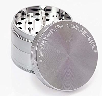 Chromium Crusher 2.5 Inch 4 Piece Tobacco Spice Herb Grinder - Pick Your Color