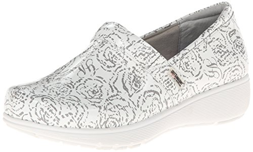 SoftWalk Women's Meredith Mule White Floral Patent outlet comfortable pictures sale online eKCiz