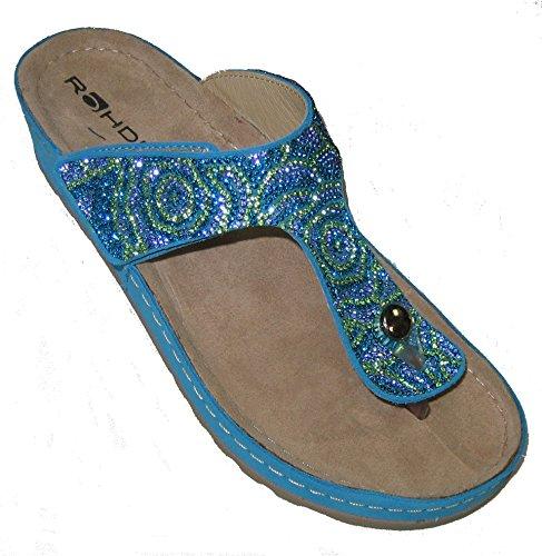 Rohde 5812 mujer flip flops turquesa
