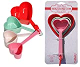 2 SETS Heart Shaped Measuring Cups Set Best Mother Day Gift Set for Her Wife Mother in Law Mom