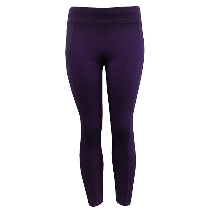 Pantalones Yoga Mujeres Mallas Deportivas Mujer Mujer Color ...