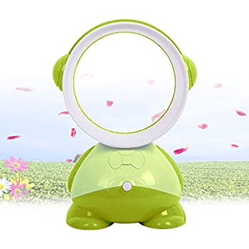 SUPOW Bladeless Fan, Mini USB Electric Table Desk Easy Clean No Blades Fan Summer Natural Air Saft Cooling Fan For Home/Office/Outdoor/Baby/Kids (Green)