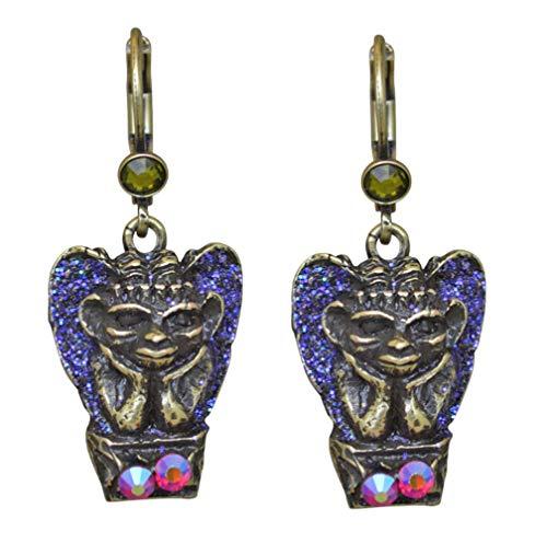 Kirks Folly Gargoyle Guardian Leverback Earrings bronzetone