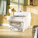 Envirolet MS10 Waterless Self-Contained Composting Toilet (120VAC Electric), WHITE