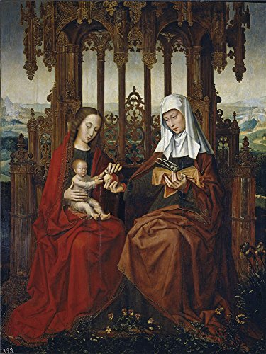 [The Perfect Effect Canvas Of Oil Painting 'Benson Ambrosius Saint Ann The Christ Child And The Virgin Mary First Half Of The 16 Century ' ,size: 18 X 24 Inch / 46 X 61 Cm ,this Best Price Art Decorative Canvas Prints Is Fit For Laundry Room Decor And Home Decoration And Gifts] (Bloody Mary Costume Pictures)