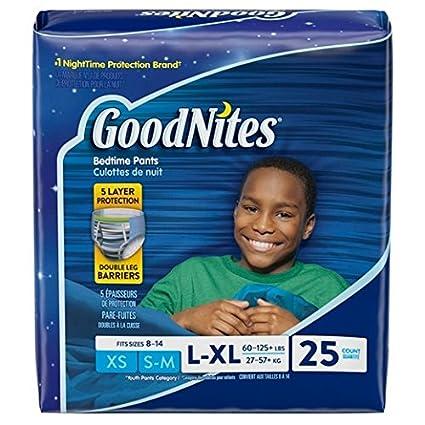 Goodnites Huggies - Ropa interior para niños (talla grande/extragrande, 20 unidades,