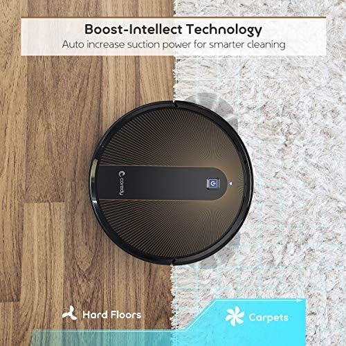 Coredy R750 Robot aspiradora, compatible con Alexa, sistema de fregado, intelecto Boost, soporte para límite virtual, aspiración de 2000 Pa, superdelgada, actualizada, aspiradoras robóticas, limpia el piso duro a la alfombra. 7