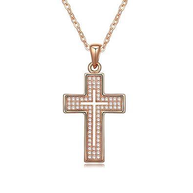 NEEMODA For Women Cross Necklace Pendant Fashion Jewelry Cubic Zirconia Religious Gift Her Birthday Anniversary