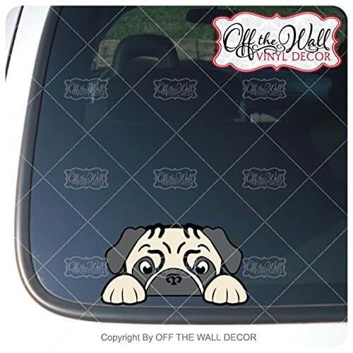 Amazon.com: Peek-A-Boo Pug Vinyl Decal Sticker for Cars / Trucks ...