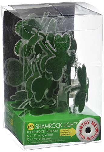 amscan St. Patricks Day LED Battery Operated Light Garland | Party Decoration