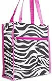 Zebra Print Tote Bag (Pink)