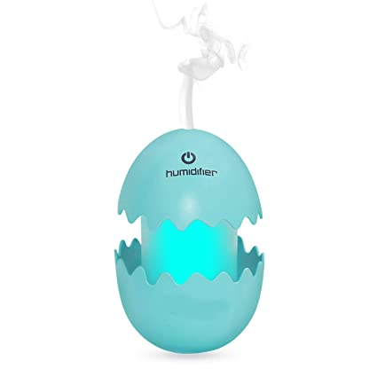 Skyfish Egg Shaped Air Freshener Humidifier with LED Night Light for Car Home and Office (Multi Color)