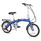Kent International Concord Aluminum 7-Speed Folding Bike, 16-Inch/One Size