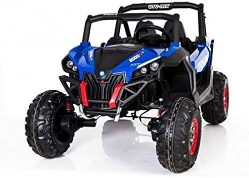 Coche eléctrico 2plazas 24V Buggy utv-mx azul–Pack Luxe