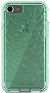 tech21 Evo Gem Drop Proof Protective Case for iPhone SE 2020 / iPhone 8 / iPhone 7 / iPhone 6 - Ultra Thin Clear Back, Anti-Scratch - Green - Bulk Packaging