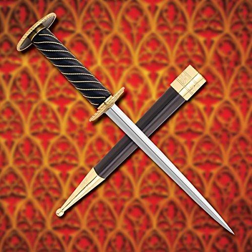 Museum Replicas Auray Rondel Medieval Dagger w/ 24K Plating