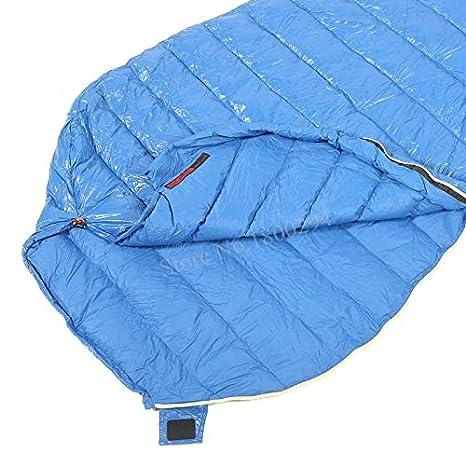 Amazon.com : RubyShopUU Aegismax M2 Lengthened Blue Wing Mummy Sleeping Bag Ultralight White Goose Down Outdoor Camping Hiking Saco de dormir 200cm86cm ...