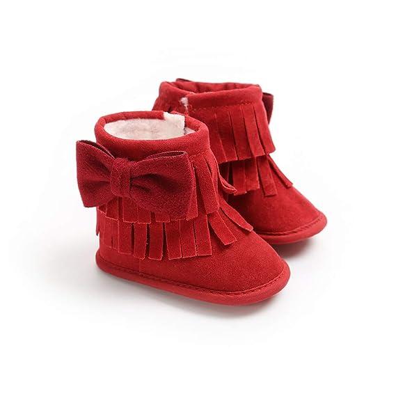Morbuy Bebe Zapatos de Primeros Pasos Botas de Nieve 0-18 Meses ...