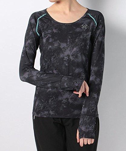 倫理人事窓(ナンバー) Number UVストレッチ RUN ロングスリーブTシャツ M ブラック
