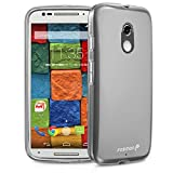 Fosmon DURA-FROST Smooth Durable & Flexible Slim Fit TPU Case Cover for Motorola Moto X (2nd Generation 2014) (Clear)