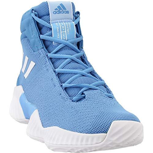 adidas Men's Pro Bounce 2018 Basketball Shoe, White/Light Blue, 11.5 M US